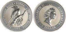 Australien 1 Dollar Silber, 1 Unze, 1995 Kookaburra, in Kapsel BU