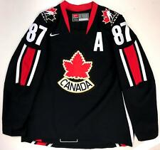 SIDNEY CROSBY TEAM CANADA 2006 WORLD CHAMPIONSHIP BLACK NIKE JERSEY LARGE