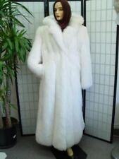 ~NEW WHITE FOX FUR COAT W/HOOD WOMEN ALL SIZES