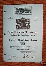 LMG BREN LIGHT MCHINE GUN 1942 - WW2 BRITISH MANUAL REPRINTED BOOKLET