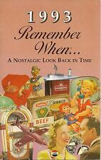 26th Birthday Remember When Book 1993
