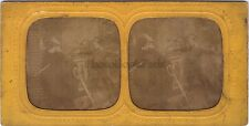 Scène de genre Enfants duel Stéréo Diorama Tissue Vintage Albumine