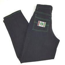 Cross Colours Boys Size 16 Black Vintage 90's Jeans Hip Hop 24x29