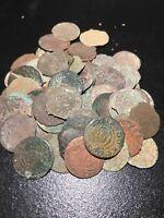Copper Poland Lithuania Solidus Szelag Schiling 1587-1632 Sigismund III Coin