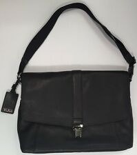 Tumi SOMERSET Leather MESSENGER Beacon Hill Laptop Computer Bag Black 68570 NEW
