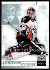 2002-03 Upper Deck Mask Collection Milan Noronen Martin Biron #11