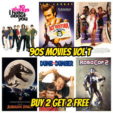 90s Movie Posters - Classic Vintage Wall Art - Party Bar Shop Cafe Cinema Decor