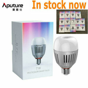 Aputure Accent B7C LED Light Smart Bulb 2000K-10000K Adjust 7W RGBWW APP Control