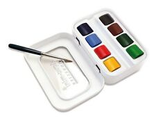 Sennelier L'Aquarelle Aqua Mini Artists Quality Watercolour Pocket Set + Brush