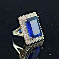 PERFECT! TURKISH HANDMADE SAPPHIRE STERLING SILVER 925K AND BRONZ RING SIZE 9