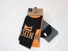 Nike 3 pair Crew socks black orange charcoal Kids youth shoe size 3Y-5Y