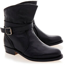 NEW $398 Frye Dorado Black Leather Ankle Boots Shoes Size 7
