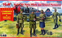 ICM 48084 - 1/48 Soviet Air Force Pilots and ground personnel, plastic model