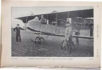1915 WW1 Imprimé Britannique Militaire Biplan Avro Prêt Pour Vol
