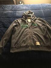 PHILADELPHIA EAGLES Mens Reebok Retro Sport Hoodie Zipper Sweatshirt XL ecc6a26db