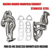 FOR 03-06 350Z Z33 INFINITI G35 VQ35DE STAINLESS RACING HEADER MANIFOLD/EXHAUST