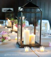 "LARGE 18"" Black Malta Candle holder Lantern Lamp light outdoor garden terrace"