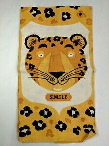 Tammis Keefe Cotton Kitchen Dish Tea Towel Leopard Smile Vintage NOS 1950s