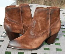 FRYE RENEE SEAM SHORT US 9 Womans Western Ankle Boot Suede