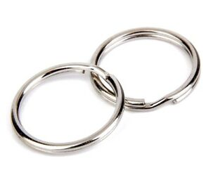 10pcs 10mm to 50mm Large size Split Rings Key Ring Keychain Clip Holder Findings