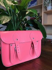 NEW  The Cambridge Satchel Company Bag. Fluorescent Light Pink.  11 X 8""