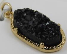 Bead Landing Signature Genuine Stone Black Charm New Nickel Free