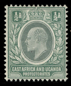 EAST AFRICA and UGANDA EDVII SG17a, ½a grey-green, M MINT. Cat £17. CHALKY
