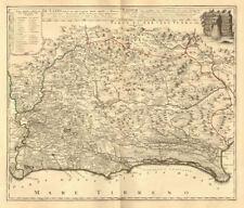 Il LAZIO CON LE SUE PIU cospicue strade antiche e moderne. LAZIO. MAPPA HOMANN 1745