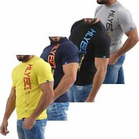 Mens HLY EQPT Printed T-Shirt 100% Cotton Gym Athletic Training Tee Top Summer