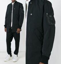 Diesel 'J-Ubilee' black padded bomber long jacket / car coat  sz S $298