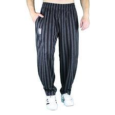 schwarz grau breitgestreifte Bodybuilding Gym Hose Sporthose Freizeithose MORDEX