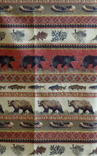 SITKA BEAR UPHOLSTERY FABRIC MOUNTAIN LODGE CABIN RUSTIC BEARS TAPESTRY CHENILLE