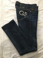 (*.*) G-STAR RAW * Womens MIDGE STRAIGHT Blue Jeans / Denim * Size 30 / 10 Long