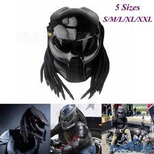 Motorcycle Carbon Fiber Predator Iron Warrior Man Full Face Helmets With Visor