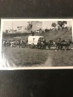 real photo Postcard Souris First Nations Cowboy Parade Horse Picture A1