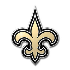 New ProMark NFL New Orleans Saints Aluminum Color Car Truck Emblem Sticker Decal