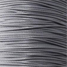 Cordón de Algodón Encerado 0,5mm – 5 M Gris para collares y Pulseras de cuentas