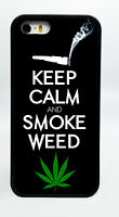 NEW KEEP CALM AND SMOKE WEED POT PHONE CASE COVER FOR IPHONE 6S 6 PLUS 5C 5S 5 4