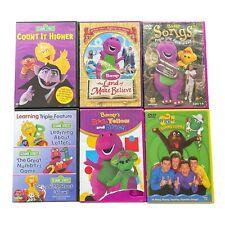 Children DVD Lot Of 6 - Barney ,Sesame Street ,The Wiggles 8 Disc Bundle Movies
