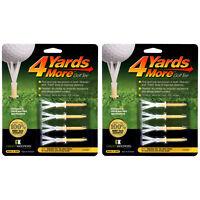 "2 PACKS of 4 Yards More Golf Tees 2 3/4""  - 8 Standard Yellow Plastic Tees"