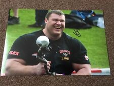Vytautas Lalas Hand Signed 12 x 8 Photograph World's Strongest Man Coa