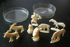 Lot of 8 Vintage Margarine Figures or Premiums Germany & France In Cheese Box