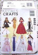 8552 SEWING PATTERN~BARBIE DOLL CLOTHES:WEDDING DRESS&GYPSY&CINDERELLA+