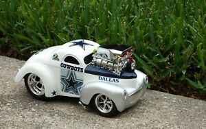 Dallas Cowboys Football Team Custom Muscle Machine 41 Willys Coupe 1:18 Scale