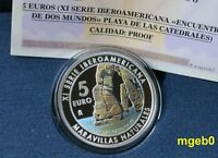 "SPANIEN 2017 - 5 € Silber PP / Proof  "" Playa de las Catedrales """