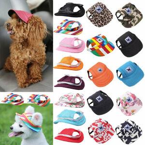Dog Hat Pet Baseball Cap Puppy Cat Beach Outdoor Sport Visor Cap with Ear Holes
