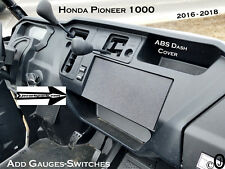 Honda Pioneer 1000 blank ABS Plastic Cover Plate For Mounting stereo or Gauges