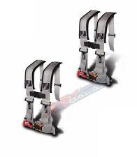 "Dragonfire Seat Belt Harness 4 Point 3"" Padded Grey Pair Yamaha Can Am Polaris"