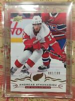 ANDREAS ATHANASIOU 2018-19 Upper Deck UD EXCLUSIVES 81/100 ! OILERS 👏👏👏👍