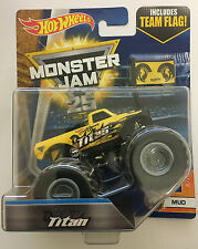 Titan 4X4 Hot Wheels 1:64 Monster Jam Truck with team flag Sealed New